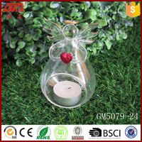 wholesale decoative angel figurine glass candle holder