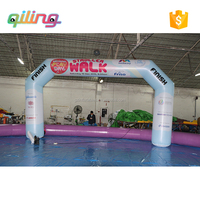 Wholesale inflatable promotional archway display arches,customized advertising event entrance arch