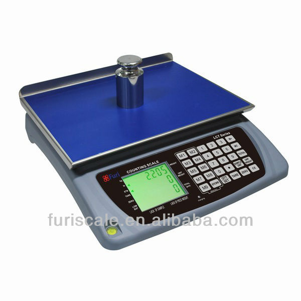 Furi LCT commercial digit counting balance with high capacity and accurate division