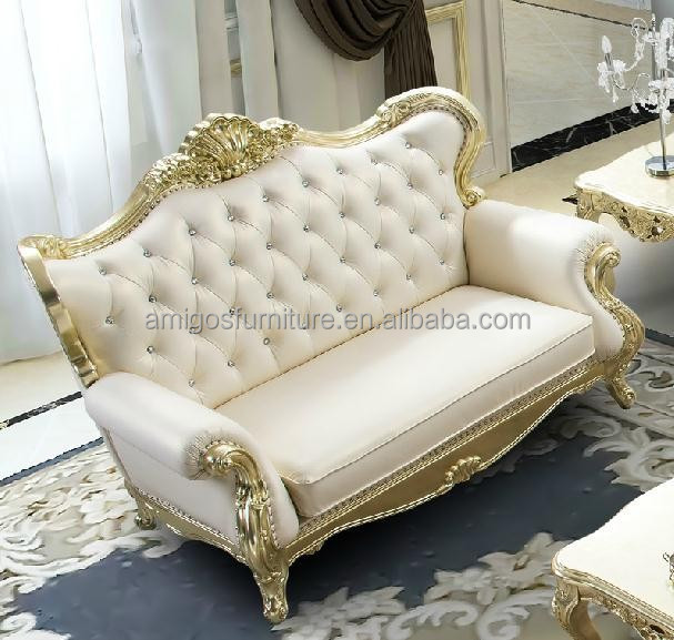 Royal furniture french style luxury classic european sofa set