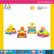 High quality huile toys plastic animal friction car with ASTM