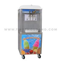 Hot Sale 3 Flavor Commercial Mobile Snow White Soft Serve Ice Cream Machine