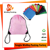 Cheap Price 210D Polyester Waterproof Promotional Drawstring Bag