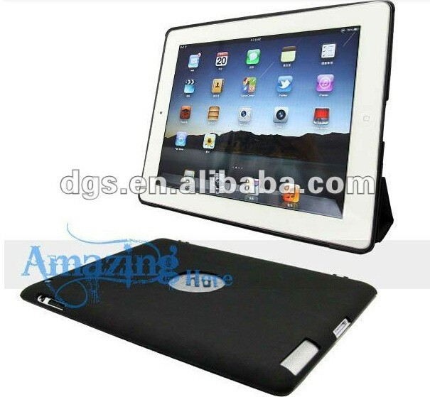 Wholesale Trifolding Magnetic Stand PU Leather case for iPad
