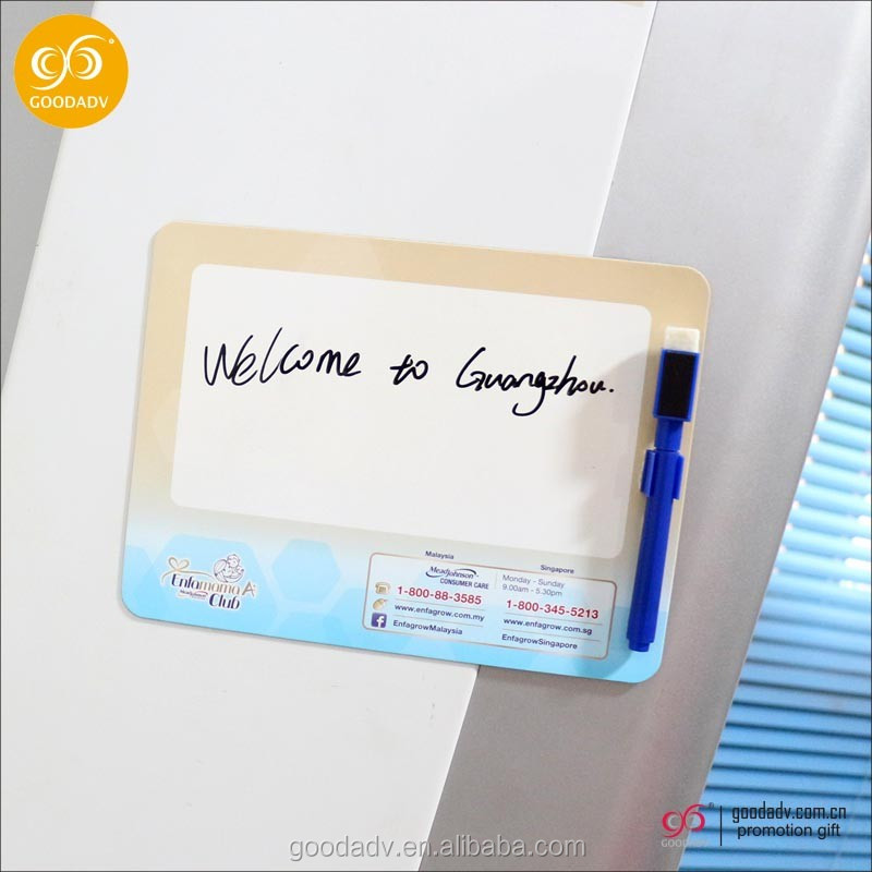 Wholesale cheap magnetic dry erase board fridge magnet whiteboard/writing board for gifts