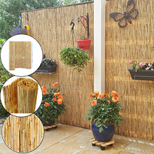 Natural Peeled Reed Screening Roll Garden Screen Fence Fencing Wooden 4m x 1.5m