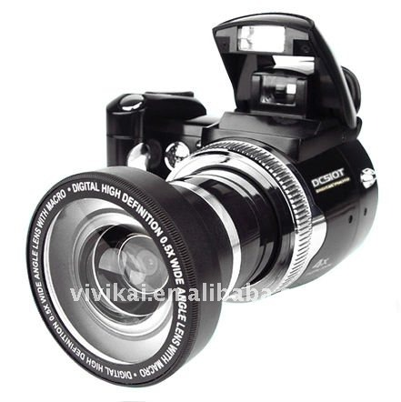Professional Slr type 12Mage pixels Digital camera with 2.4 inch TFT screen and wide angle lens