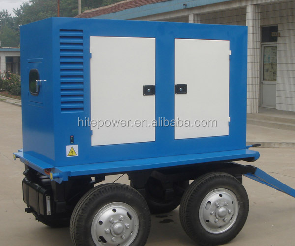 8KW TO 1000KW mobile generator run on natural gas or diesel oil