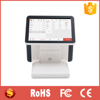 12 inch dual all in one touch screen POS cashier machine