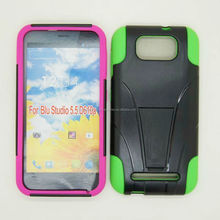 Double layer Hybrid T design stand case for BLU Studio 5.5 D610a