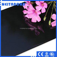 Building Cladding/Decrative Metal Plastic Panel/Black Glossy Aluminum Composite Panel for Construction