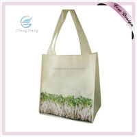 Recycled Fashion Lady Shopping Bag, Non Woven Shoulder Bag With Cross Stitch