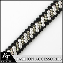 2014 Hot-selling clearance sale pearl diy handmade beaded lace trim laciness clothes collar decoration, DIY craft