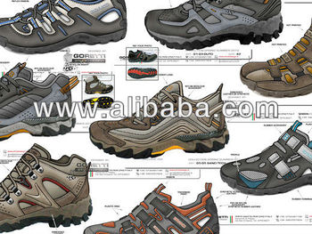 Hiking, trekking hiking and sandal shoes tech designer