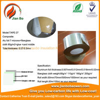Reinforced Aluminum Foil fiberglass cloth insulation tape