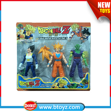 3PCS Dragon Ball Z Action figurines playset Cartoon Toys