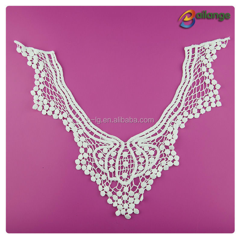 100% Cotton crochet lace collar