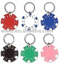 Poker Chips Imprinted Key chains, Poker Chips Imprinted Keyring, Poker Chips Imprinted Key holder