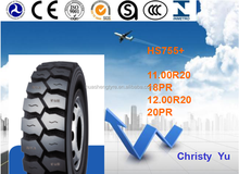 Radial Truck tire 11.00r20,12.00r20 HS755+ for truck drive tire with excellent open pattern ditch design
