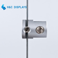 Manufacturer price panel support single sided Aluminum glass clamp for 1.5mm cable