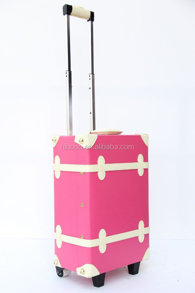 Colorful Hard Shell Luggage Pink Vintage Luggage Hard Shell ...
