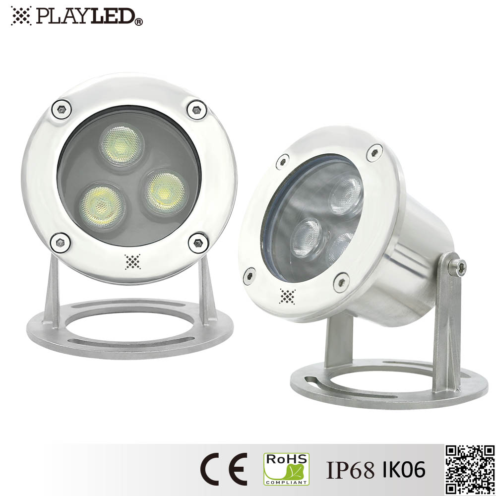 6W Surface Mounting LED Swimming Pool Light LED Fountain Waterproof Light LED Underwater Light