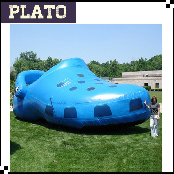 Hot Custom Made Giant Inflatables Advertisement Super Crocs Advertising Inflatable Hole hole shoes