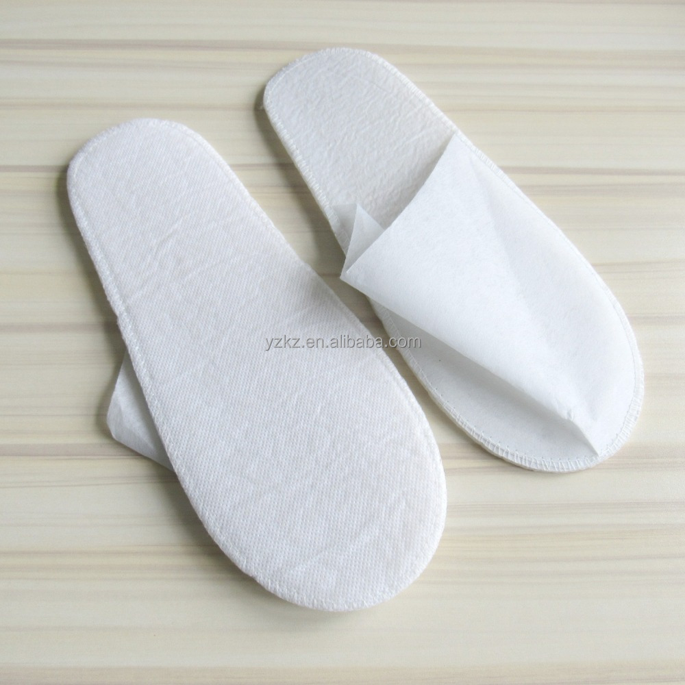White Close Toe Biodegradable Disposable Paper Slipper