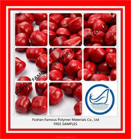 raw material plastic HDPE red master batch CR990