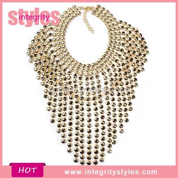 High End New Lady's Bead Statement Necklace