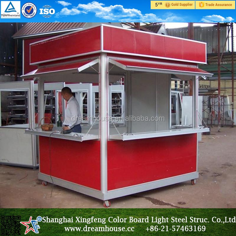 prefabricate sentry box cheap mobile container coffer bar food kiosk