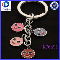 Cheap promotional product items to sell round charms keyring