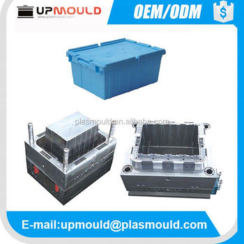 folding plastic vegetable/fruit crate mould mold injection molding crate