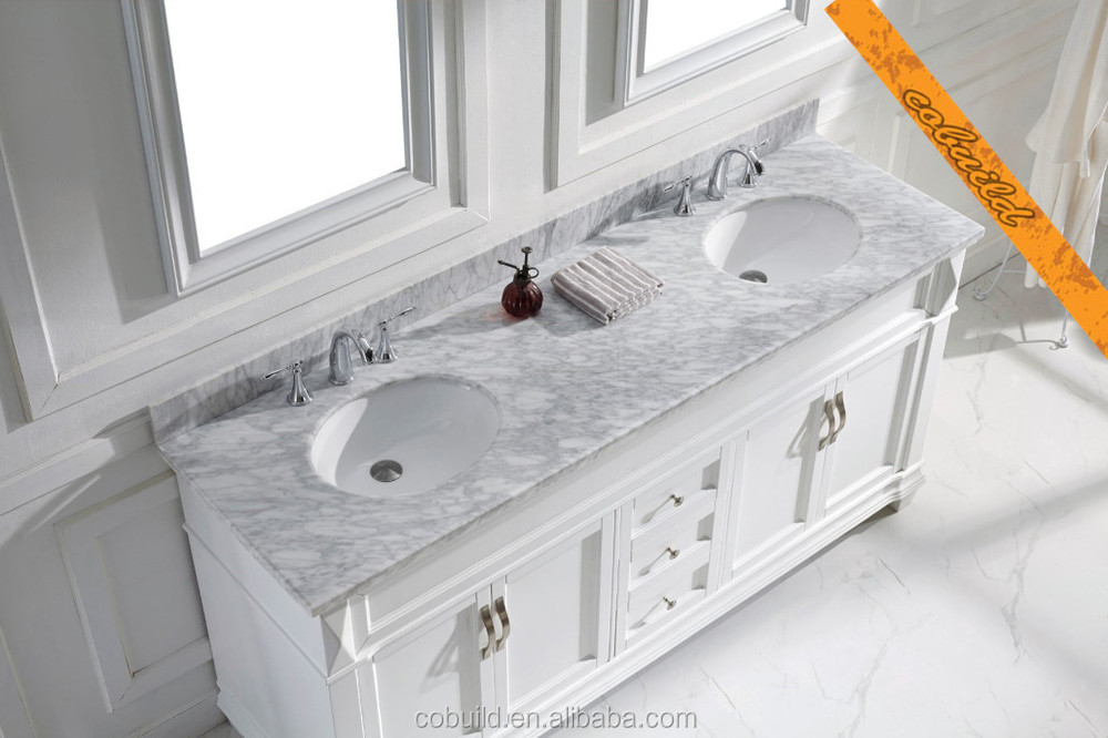 72 pollici doppio lavello vanit bagno piano in marmo - Doppio lavello bagno ...