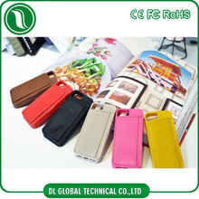 Wholesale alibaba pc leather combo phone case with card slot for iphone 4 back cover leather case for iphone 4s