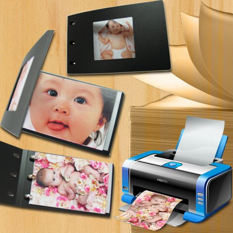 DIY photo album with software for your baby (6 COLORS)