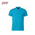 Wholesale Light Blue Uniform Dri Fit Men's Polo Shirt