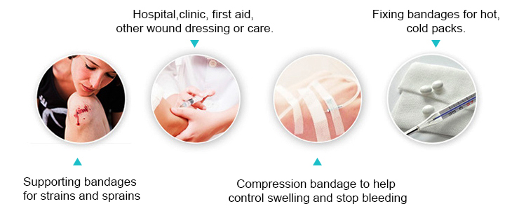 Breathable cotton medical tape for skin