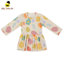48BQA320-2 Long Sleeve Spring&Summer Casual Print Puffy Girl Ball Gowns For Kids For Cheap Baby Tutu Dress Princess