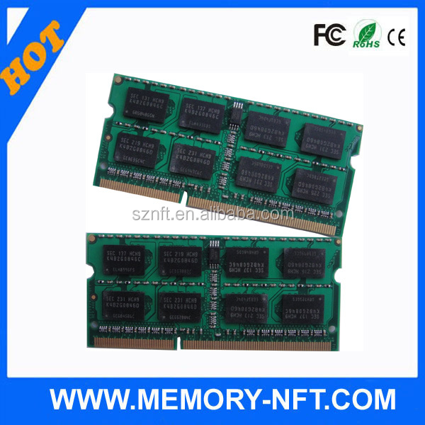Laptop Memory ram ddr3 sodimm 1600 speed 8gb 1gx8x8c Laptop memoria ram DDR3 1333MHz So-dimm for laptop price in Europe