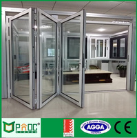 Aluminium doors and windows designs with double tempered clear glass in China
