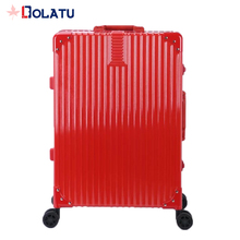 Modern design promotional wheeled travel PC and ABS luggage with laptop compartment