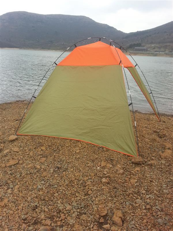Hot selling canvas camping tent 2 door tents