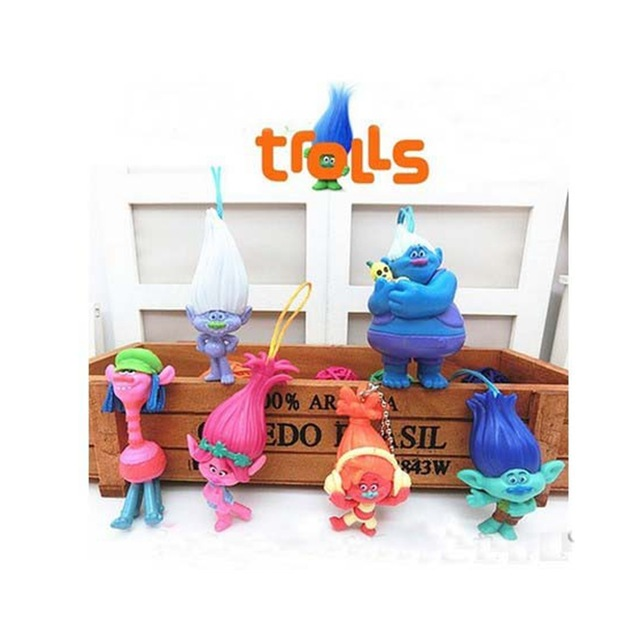 Best selling hot 6cm DREAMWORKS Movie Trolls doll PVC custom action figure
