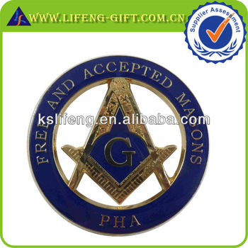 PHA cut out masonic car emblem