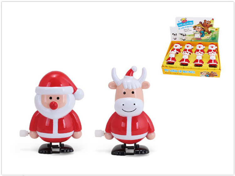 ABS Material Christmas Tree Elk Wind Up Walking Toys
