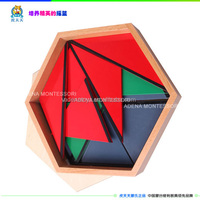 Wooden Educational Kids Toy: Constructive Triangles With 5 Boxes Sensorial Teaching Aids for KIDs