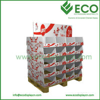 Promotional Cardboard Pallet Display for Bedding Displays Rack