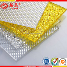 virgin lexan construction material pc polycarbonate prismatic diamond embossed sheet roof