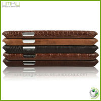 Crocodile smart phone case for samsung galaxy S4 with card slots